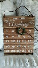 Christmas countdown Advent Wood Calendar with Wreath marker New