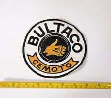 Large 6in Round Bultaco Cemoto Patch Vintage Motorcycle Nos