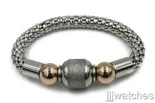 New Stainless Steel Jewelry Silver Tone Popcorn Brushed Bead Bangle BK027SL