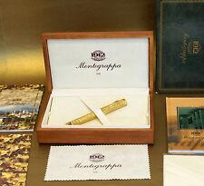 MONTEGRAPPA MILLENNIO DI BASSANO 18K 750 SOLID YELLOW GOLD FOUNTAIN PEN