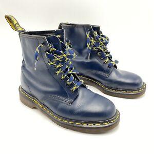 Dr. Doc Martens The Original Air Wair Blue Boots UK 7 1460