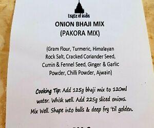 450g Onion Bhaji Mix (Pakora Mix) - Taste of India Spices FREE & FAST DELIVERY