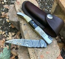 ALISTAR SUPERB BEAUTIFUL DAMASCUS STEEL LAGUIOLE FOLDING/POCKET KNIFE (4-4
