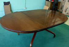 DREXEL 1965 OVAL MAHOGANY DINING BANQUET CONFERENCE TABLE 2 LEAVES 5, 6, 7 FT