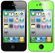 Color Matte Anti Glare Front+Black LCD Screen Protector Film for iPhone 4S 4G 4