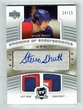 05-06 UD The Cup Emblems of Endorsement  Steve Shutt  /15  Auto  Patches HOF