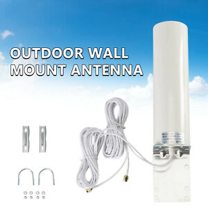 Dual SMA Male 3G 4G LTE Wall Mount Signal Booster Antenna Outdoor Signal Booster