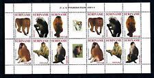 [SUV1824] Surinam Suriname 2011 Primates Monkey Miniature Sheet with tab MNH