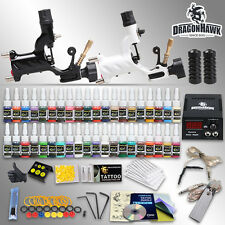 Tattoo Kit 2 Machines Gun 40 color Inks Power supply needles Grip Tip HW-5GD-6