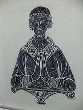Brass rubbing GREAT BRINGTON NORTHAMPTIONSHIRE, JOHN de CLIPSTON c1340  ..  91/1