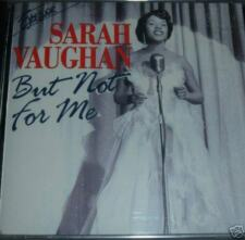 Sarah Vaughan But Not For Me CD *SEALED* The More I See You etc