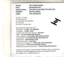 (DT258) Hot 8 Brass Band, Milwaukee Fat - 2013 DJ CD