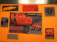 Disney Pixar Cars Movie Fabric Iron Ons -style #3 Lightning McQueen appliques