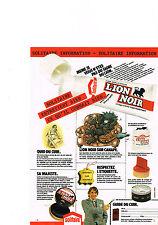 PUBLICITE ADVERTISING  1980   SOLITAIRE   LION NOIR  cirage