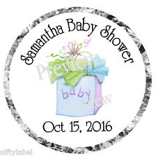 GLOSSY HERSHEY KISS STICKER LABELS ~  BABY SHOWER PRESENT #5  ~ TOOO CUTE ~