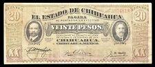 El Estado de Chihuahua 20 Pesos 3.27.1915 ERROR, M926f / MI-CHI-64.2 VF