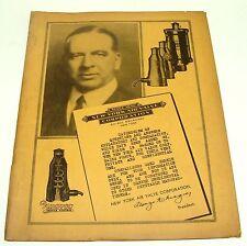 ORIG 1930s NEW YORK AIR VALVE CORP PLUMBING RADIATOR CATALOG PRESSURE CHECK