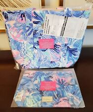 Nwt Lilly Pulitzer Gwp Set - Removable Cooler Tote & Clear Pouch - Shade Seekers