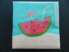 Graphique 40 ct. Cocktail Beverage Paper Napkins Decoupage 3 Ply Lifes a Beach