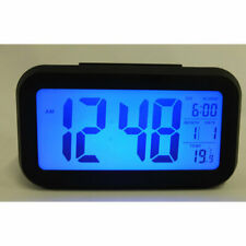 Large LCD Display Digital Alarm Clock with Blue Back Light