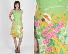 Vintage 70s Malia Hawaiian Dress Floral Garden Tiki Sun Boho Hippie Party Mini S