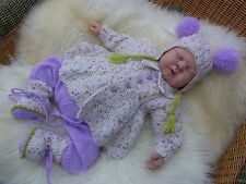 PRINTED PAPER KNITTING PATTERN TO MAKE 'FRIDAY'S CHILD FOR BABY OR REBORN DOLLS