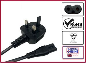 UK Power Cord Cable Lead For Toshiba Laptop Notebook Charger / AC Adapter