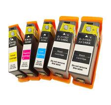 Ink Cartridges for V525w V725w Printer 5-PACK Compatible Dell Series 33 31 XL