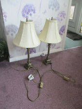 2No 1980's table lamps with cream shades