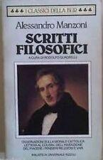 Scritti Filosofici,Manzoni, Alessandro  ,Rcs Mediagroup,1988
