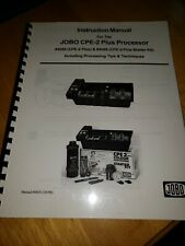Instruction Manual for the JOBO CPE-2 Plus Processor #4065 and #4069