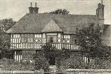 WICKENS COTTAGE 1894 Armand-Emile-Jean-Baptiste Kohl - Gardens VICTORIAN PRINT