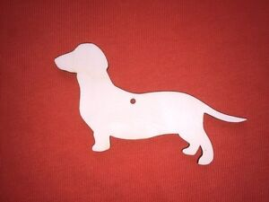 10 medium size DOG n2 SHAPES PLAIN UNPAINTED BLANK WOODEN TAG HANGING CRAFT