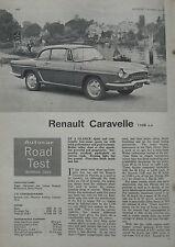 1965 Renault Carvelle Original Autocar magazine road test