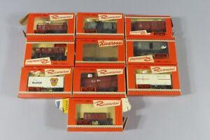 H 82816 Sammlung originalverpackter, alter Rivarossi Eisenbahnwagen