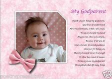 GODPARENT GIFT  (Laminated Poem Gift) *YOUR PHOTO PRINTED**