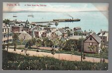 [53988] OLD POSTCARD VIEW FROM HILL-TOP IN DIGBY, NEW BRUNSWICK, CANADA