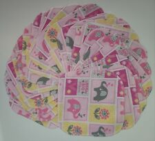"""Cloth Wipes 20 Baby Flannel 8""""x8"""" Girl Elephant Flower Pink Reusable 1 or 2 Ply"""
