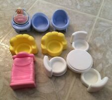 Lot 11 fisher price furnitures And Baby