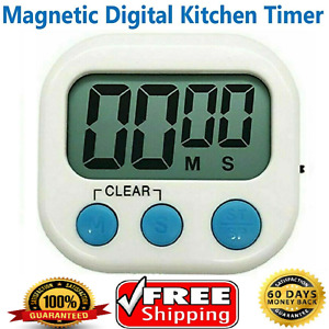 Large Digital Kitchen Timer Count-Down Up Clock Loud Alarm Magnet Stopwatch Game