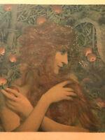 LEVY DHURMER Gravure Art Nouveau Lithographie EVE et la pomme snake 1898