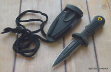 UNITED CUTLERY BLACK MINI BOOT KNIFE WITH KYDEX SHEATH & LANYARD PARACORD