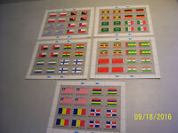 Lot of 5 Diffrent Mint Never Hinged United Nations Flag Series Full Stamp Sheets