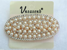 60% OFF! UNSASENB INTRICATE SIMULATED PEARLS W/ RHINESTONES HAIR CLIP #4 P198