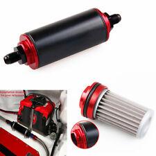 AN6 AN8 AN10 Inline Fuel Filter High FLOW 40 Micron Cleanable Black&Red