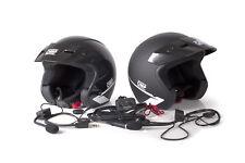 OMP Star Helmet x 2 Black Glossy Intercom Set Terratrip Clubman CHEAP DELIVERY