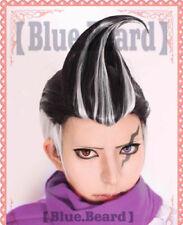 Danganronpa gundam tanaka Cosplay wig Mixed balck with White Gray party Hair wig