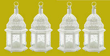 "White Wedding Candle Lanterns 12"" tall (Set of Four) Party Event Supplies 38465"