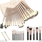 18pcs Pro Makeup Brush Cosmetic Tool Kit Eyeshadow Powder Brush Set+Leather Case