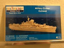 Creatology Wooden Puzzle 3D Wooden Model Kit Military Cruiser
